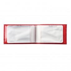 """Визитница карманная BEFLER """"Ящерица"""", на 40 визитных карт, натуральная кожа, тиснение, красная, V.30.-3"""