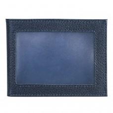 """Обложка для удостоверения BEFLER """"Грейд"""", натуральная кожа, с окном, синий, F.13.-9"""