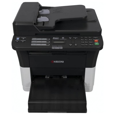 МФУ лазерное KYOCERA FS-1025MFP (принтер, сканер, копир), А4, 25 стр./мин., 20000 стр./мес., ДУПЛЕКС, с/карта, АПД, без кабеля USB, 1102M63RU2
