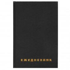 Ежедневник недатированный А5 (145х215 мм), бумвинил, 160 л., BRAUBERG, черный, 126540