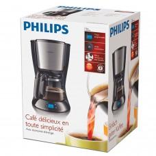 Кофеварка капельная PHILIPS HD7459/20, 1,2 л, 1000 Вт, подогрев, таймер, дисплей, черная