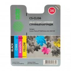 Картридж струйный CACTUS (CS-CLI36) для CANON PIXMA iP100, цветной, ресурс 250 стр.