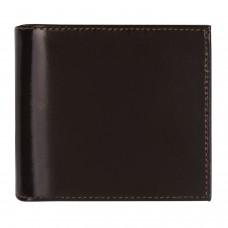 "Портмоне мужское BEFLER ""Classic"", 100х106 мм, натуральная кожа, на кнопке, коричневое, PM.21.-1, PМ.21.-1"