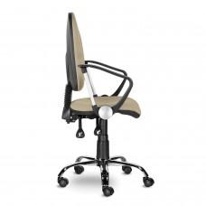 """Кресло """"Манго Люкс"""", С-109, с подлокотниками, хром, песочное"""