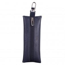 """Футляр для ключей BEFLER """"Грейд"""", натуральная кожа, на молнии, 135x55 мм, синий, KL.8.-9"""
