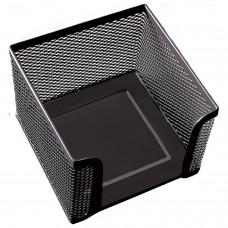 """Подставка для бумажного блока BRAUBERG """"Germanium"""", металлическая, 78*105*105 мм, черная, 231944"""