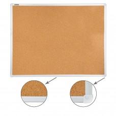 Доска пробковая для объявлений (90х120 см), алюминиевая рамка, ГАРАНТИЯ 10 ЛЕТ, РОССИЯ, BRAUBERG, 236445