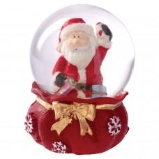 """Фигурка сувенирная """"Снежный шар МЕШОК С ПОДАРКАМИ"""", полистоун/стекло, диаметр 45 мм, ЗОЛОТАЯ СКАЗКА, 590902"""
