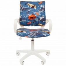 """Кресло детское СН KIDS 103, с подлокотниками, синее с рисунком """"Машинки"""", 7027830"""