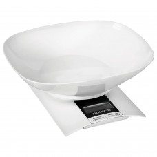 Весы кухонные POLARIS PKS 0323DL, электронный дисплей, чаша, max вес 3 кг, тарокомпенсация, пластик