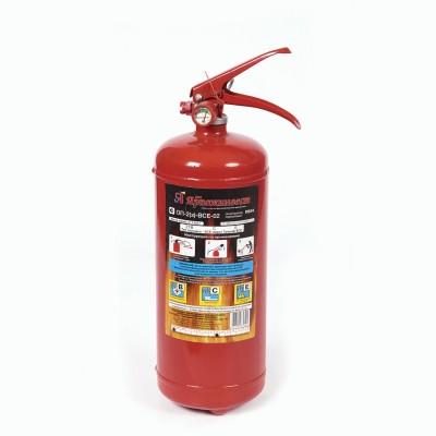 Огнетушитель порошковый ОП-2, АВСЕ (твердые, жидкие, газообразные вещества, электрические установки) закачной, ЗПУ Алюм, ЯРПОЖ, УТ-00001627