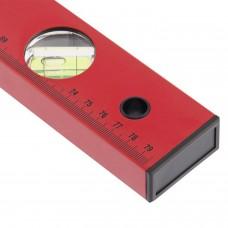 Уровень 800 мм MATRIX 3 глазка, линейка, алюминиевый, красный, 33226