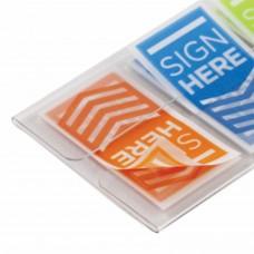 """Закладки клейкие POST-IT """"Поставьте Вашу подпись"""", пластиковые, 24 мм, 3 цвета х 20 шт., 682-SH-OBL"""