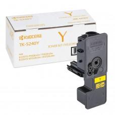 Тонер-картридж KYOCERA (TK-5240Y) P5026cdn/w/M5526cdn/w, ресурс 3000 стр., цвет желтый, оригинальный, 1T02R7ANL0