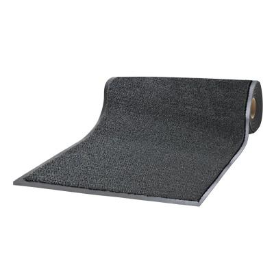 Коврик-дорожка ворсовый влаго-грязезащита ЛАЙМА, 1,2х15 м, толщина 7 мм, черный, В РУЛОНЕ, 602883