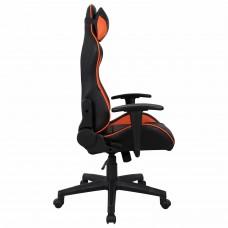 """Кресло компьютерное BRABIX """"GT Racer GM-100"""", две подушки, экокожа, черное/оранжевое, 531925"""