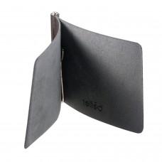 """Зажим для купюр BEFLER """"Classic"""", натуральная кожа, тиснение, 105х86 мм, черный, Z.7.-1"""
