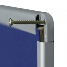 """Доска с текстильным покрытием 90x120 см, алюминиевая рамка, OFFICE, """"2х3"""" (Польша), TTA129"""