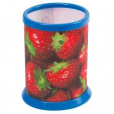 "Подставка-стакан для канцелярских принадлежностей BRAUBERG, 3D-эффект, ""Клубнички"", D 87x106 мм, 236444"
