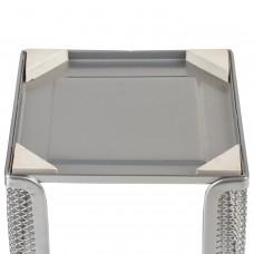 """Подставка для бумажного блока BRAUBERG """"Germanium"""" металлическая, 78*105*105 мм, серебристая, 231945"""