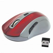 Мышь беспроводная DEFENDER ACCURA MM-965, USB, 5 кнопок + 1 колесо-кнопка, оптическая, красно-серая, 52966