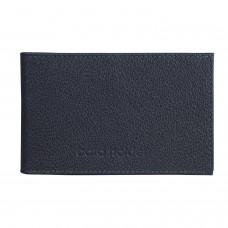 """Визитница карманная BEFLER """"Грейд"""", на 40 визиток, натуральная кожа, тиснение, синяя, K.5.-9"""