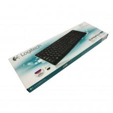 Клавиатура беспроводная LOGITECH K270, 104 клавиши + 8 дополнительных клавиш, мультимедийная, черная, 920-003757
