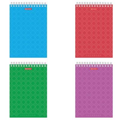 "Блокнот А5 (146х205 мм), 60 л., гребень, картон, жесткая подложка, клетка, BRAUBERG, ""Классика"", 129812"