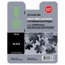 Картридж струйный CACTUS (CS-CLI521BK) для CANON Pixma MP540/630/980, черный фото