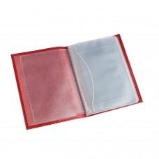 """Бумажник водителя BEFLER """"Гипюр"""", натуральная кожа, тиснение, 6 пластиковых карманов, красный, BV.38.-1"""