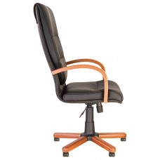 """Кресло офисное """"Credo extra"""", экокожа, дерево, черное"""