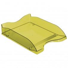 """Лоток горизонтальный для бумаг СТАММ """"Люкс"""", А4 (350х255х70 мм), тонированный зеленый, ЛТ610"""