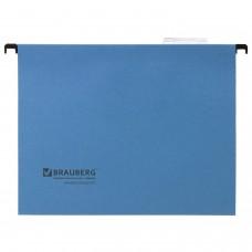 Подвесные папки А4 (350х245 мм), до 80 листов, КОМПЛЕКТ 10 шт., синие, картон, BRAUBERG (Италия), 231789