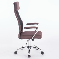 """Кресло офисное BRABIX """"Flight EX-540"""", хром, ткань, сетка, коричневое, 531849"""