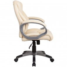 """Кресло офисное BRABIX """"Eldorado EX-504"""", экокожа, бежевое, 531167"""