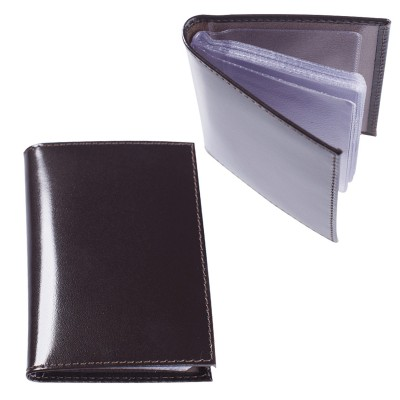 """Визитница карманная BEFLER """"Classic"""" на 40 визитных карт, натуральная кожа, коричневая, V.32.-1"""