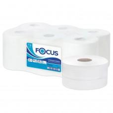 Бумага туалетная 170 м, FOCUS (Система Т2) 2-слойная, цвет белый, КОМПЛЕКТ 12 рулонов, 5036904