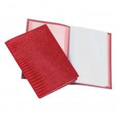 """Бумажник водителя BEFLER """"Ящерица"""", натуральная кожа, тиснение, 6 пластиковых карманов, красный, BV.1.-3"""