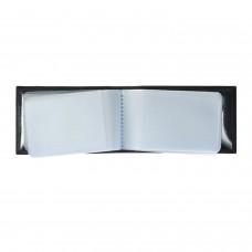 """Визитница карманная BEFLER """"Грейд"""" на 40 визитных карт, натуральная кожа, тиснение, черная, K.5.-9"""
