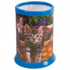 "Подставка-стакан для канцелярских принадлежностей BRAUBERG, 3D-эффект, ""Котята"", D 87x106 мм, 236439"
