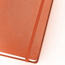 Блокнот А5 (142х214 мм), 100 л., твердая обложка, балакрон, на резинке, BRUNO VISCONTI, Оранжевый, 3-101/05