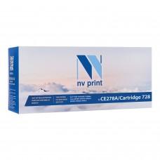Картридж лазерный NV PRINT (NV-CE278A/728) для HP/CANON LJ P1566/P1606/ MF4410/4430, ресурс 2100 стр., NV-CE278A/Canon