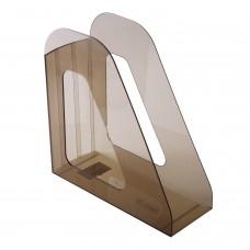 """Лоток вертикальный для бумаг СТАММ """"Фаворит"""" (235х240 мм), ширина 90 мм, тонированный коричневый, ЛТ704"""