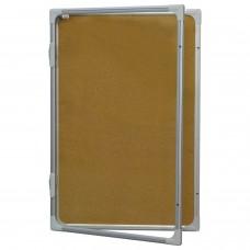 """Доска-витрина пробковая (90x60 см), алюминиевая рамка, OFFICE, """"2х3"""" (Польша), GK296"""