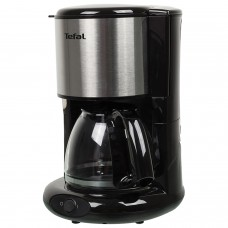 Кофеварка капельная TEFAL CM361838, 1000 Вт, объем 1,25 л, пластик, серебристая/черная