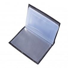 """Бумажник водителя BEFLER """"Classic"""", натуральная кожа, тиснение, 6 пластиковых карманов, черный, BV.1-1"""