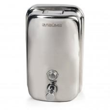 """Диспенсер для жидкого мыла ЛАЙМА """"Economy"""", 1 л, нержавеющая сталь, зеркальный, 601796"""