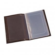 """Бумажник водителя BEFLER """"Грейд"""", натуральная кожа, тиснение, 6 пластиковых карманов, коричневый, BV.1.-9"""