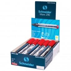 """Маркер для доски и флипчарта SCHNEIDER (Германия) """"Maxx 290"""", КРАСНЫЙ, скошенный наконечник, 2-3 мм, 129002"""