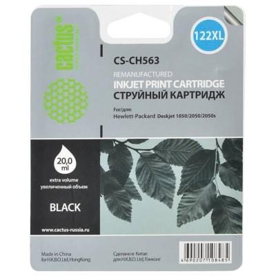 Картридж струйный CACTUS (CS-CH563) для HP Deskjet 1050/2050/2050S, черный, 20 мл